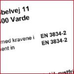 Certificering - Vestjysk Rustfri Montage - ISO 3834-2