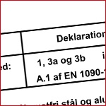 Certificering - Vestjysk Rustfri Montage - DN 1090-2 ex 3