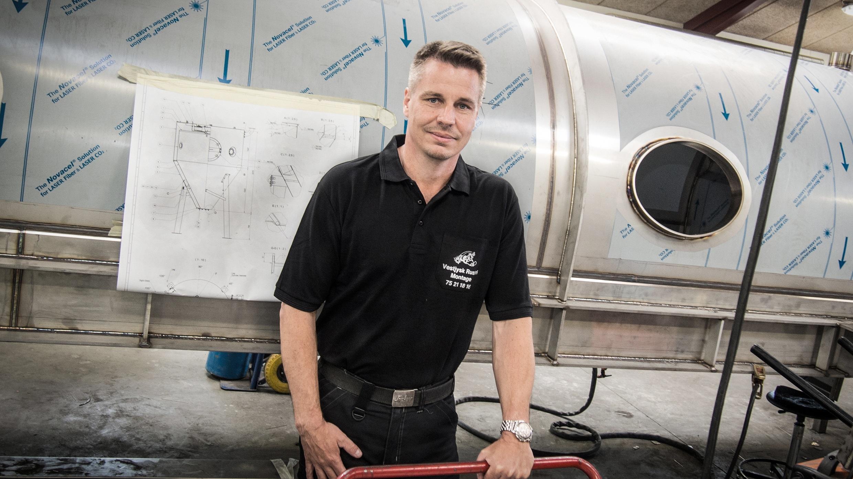 Thomas Mortensen er pr. 1. juni 2017 ansat som projektleder og værkfører hos Vestjysk Rustfri Montage ApS.