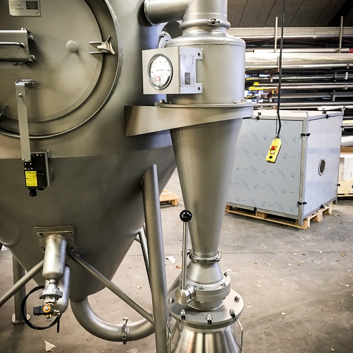 Fremstilling af isoleret spraykammer.